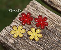 Náušnice - Bodkované kvetiny // puzety - 11093353_