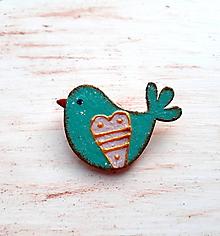 Odznaky/Brošne - brošňa jarné vtáča 1 - 11094241_