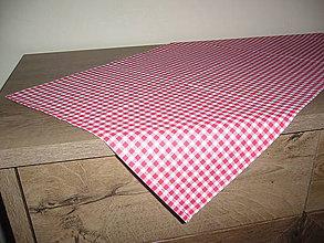 Úžitkový textil - Obrus červené káro - 11094136_