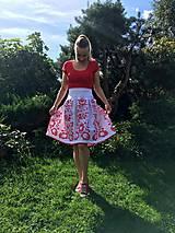 Sukne - Ručne maľovaná sukňa - 11093312_