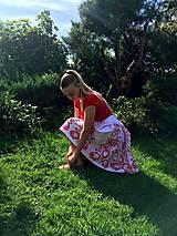 Sukne - Ručne maľovaná sukňa - 11093328_