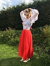 Šaty - Maľovaná plesová súprava - 11094001_