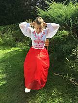 Šaty - Maľovaná plesová súprava - 11094002_