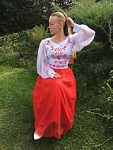 Šaty - Maľovaná plesová súprava - 11094003_
