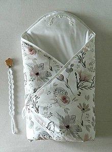 """Textil - Zavinovačka s výšivkou """" kvety"""" - 11098137_"""