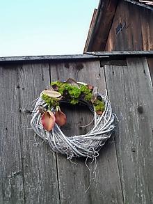 Dekorácie - Spomienkový veniec s ružovými kalami - 11097393_