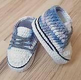 Topánočky - Sivé melírované tenisky - 11098146_