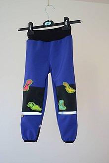 Detské oblečenie - softshellové nohavice Dino - 11098096_
