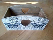 Krabičky - vintage motýľ košík - 11094927_