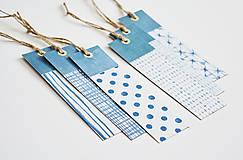Papiernictvo - Záložky modrá geometria II - 11097150_
