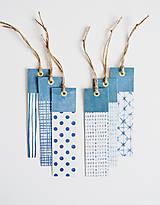 Papiernictvo - Záložky modrá geometria II - 11097151_