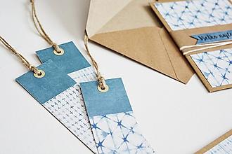 Papiernictvo - Záložky modrá geometria II - 11097149_