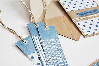 Papiernictvo - Záložky modrá geometria I - 11097166_