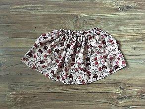 Detské oblečenie - Sukňa Kvietky do ružova - 11097196_