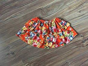 Detské oblečenie - Sukňa Farebné kvety - 11097258_