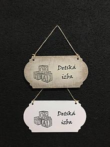 """Dekorácie - Tabuľka """" Detská izba """" kocky - 11097085_"""