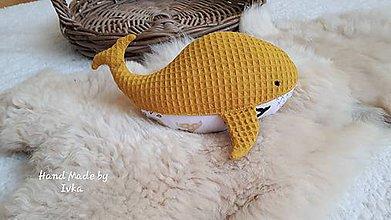 Hračky - Mojkáčik - prítulnáčik :  veľryba - 11096008_