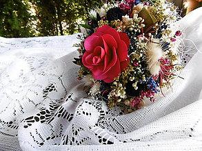 Dekorácie - Malá kytička fuchsiová - 11097485_