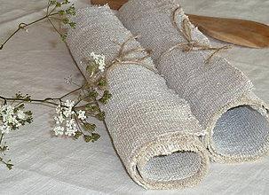 Úžitkový textil - Prestieranie z ručne tkaného ľanu - 11095401_
