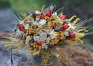 Dekorácie - Jesenný aranžmán - 11096446_