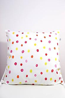 Úžitkový textil - DÚHA akvarelová obliečka - Červená - 11094878_
