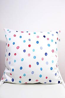 Úžitkový textil - DÚHA akvarelová obliečka - Modrá - 11094882_