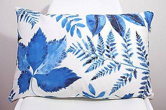 Úžitkový textil - Akvarelová obliečka - Blue Jungle III. - II. - 11094916_