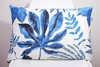 Úžitkový textil - Akvarelová obliečka - Blue Jungle IV. - II. - 11094917_