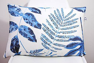 Úžitkový textil - Akvarelová obliečka - Blue Jungle I. - II. - 11094926_