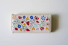 Peňaženky - PEŇAŽENKA KLIEŠČAVSKÉ KVETY - 11097458_