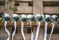 Náramky - Kvetinový náramok pre družičky - 11098016_