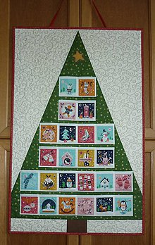 Dekorácie - Adventný kalendár STROMČEK (stromček 11) - 11096097_