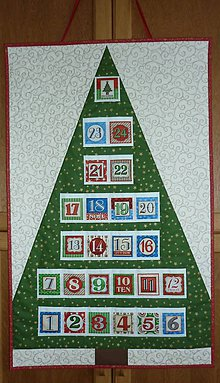 Dekorácie - Adventný kalendár STROMČEK (stromček 14) - 11096179_