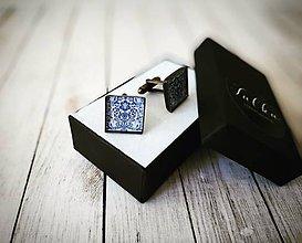 Šperky - Vzorované manžetové gombíky - 11096389_