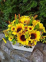 """Dekorácie - jesenná dekorácia """"slnečnice"""" 27 cm - 11094806_"""