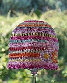 Detské čiapky - Skladom- Háčkovaná čiapka - 11094949_