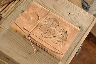 Papiernictvo - kožený zápisník ZEPPELIN - 11094972_