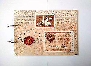 Papiernictvo - Veľký svadobný fotoalbum A4 - 11096066_