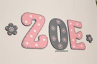 Tabuľky - ZOE meno s 15 cm písmen na želanie - 11096860_