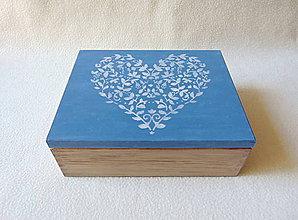 Krabičky - Drevená šperkovnica/ organizér - 11095240_