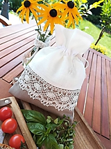 Úžitkový textil - Ľanové vrecúško na bylinky, huby, sušené ovocie......  - 11097294_