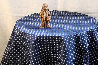 Úžitkový textil - Obrus. Modrotlačový ako z drevenej chalúpky. - 11096814_