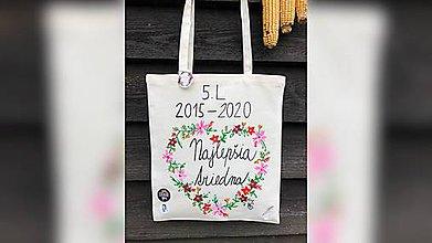 Iné tašky - ♥ Plátená, ručne maľovaná taška ♥ - 11095726_