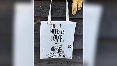 Iné tašky - ♥ Plátená, ručne maľovaná taška ♥ - 11095771_