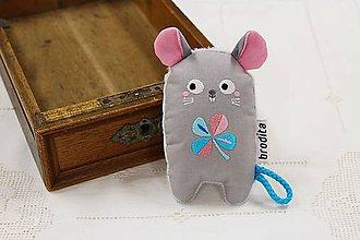 Hračky - Myška - pre bábätko - 11098122_