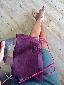 Kabelky - pravá koža Bordó bag - 11096332_