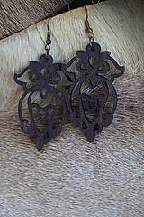 Náušnice - Náušnice z drevených výrezov - 11098068_