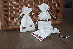 Úžitkový textil - Mini vrecúška ľanové na levanduľu alebo darčeky - 11097255_