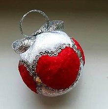 Dekorácie - Vianočná gula - srdiečková 1 - 11097489_