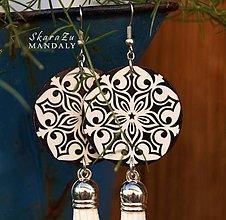 Náušnice - Mandala Gothic - 11096374_